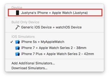 xcode-device-and-watch