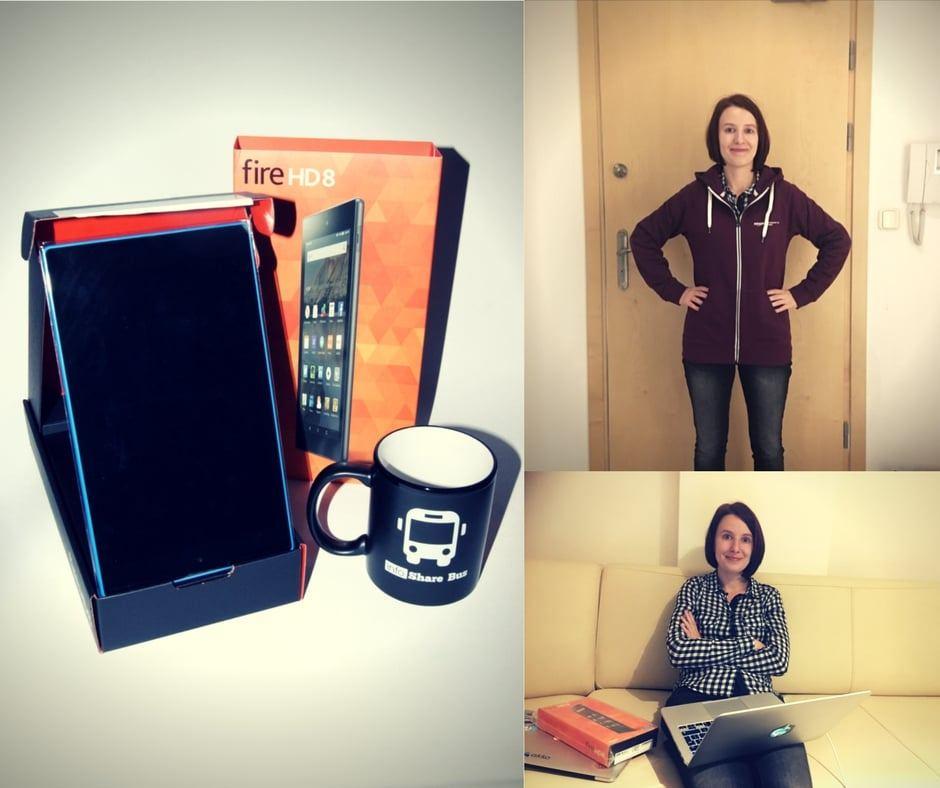 tablet AMazon Kindle Fire bluza i kubek