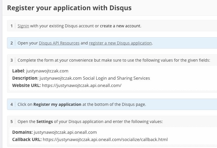 przykladowy proces integracji z Disqus