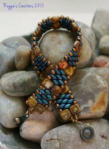 Indigo orchid superduo bracelet