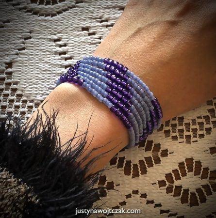 bransoletka fioletowo niebieska 1