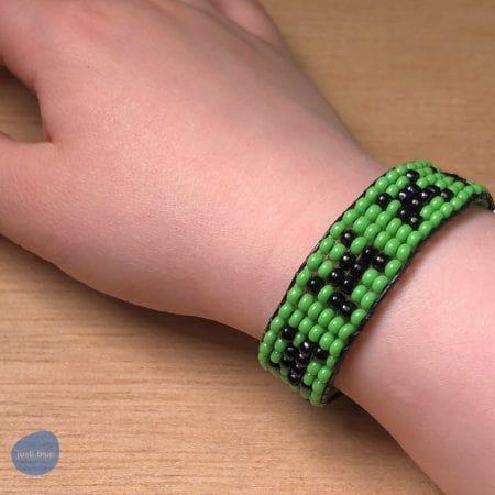 Creeper bracelet looks nice on the kid's wirst