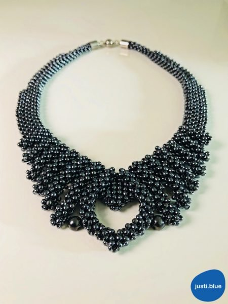 hematite necklace front view