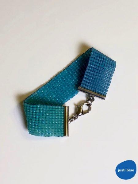 deep sea bracelet flat view buttoned justi blue