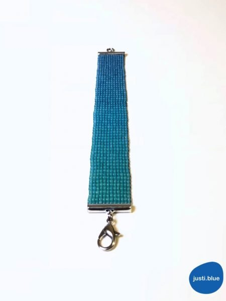 deep sea bracelet flat view front justi blue