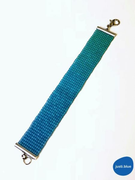 deep sea bracelet flat view justi blue