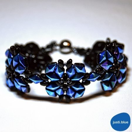 diamonduo bracelet ab front view justi blue