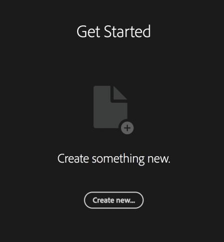 ekran startowy Adobe Illustrator