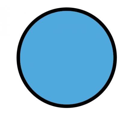okrąg z kolorowym wypełnieniem