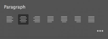 wyrównanie tekstu do środka w panelu properties wlasciwosci